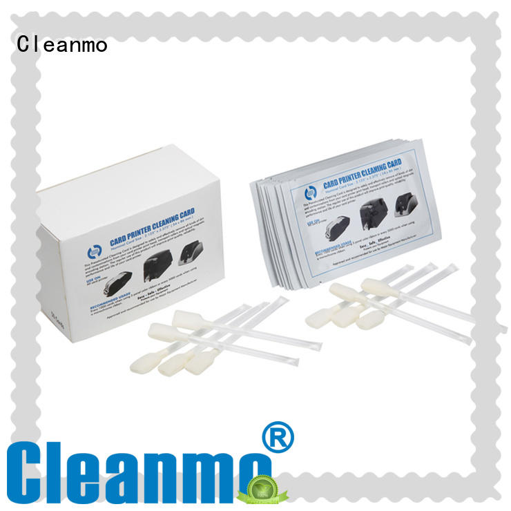 Cleanmo T shape zebra printer cleaning factory for ID card printers