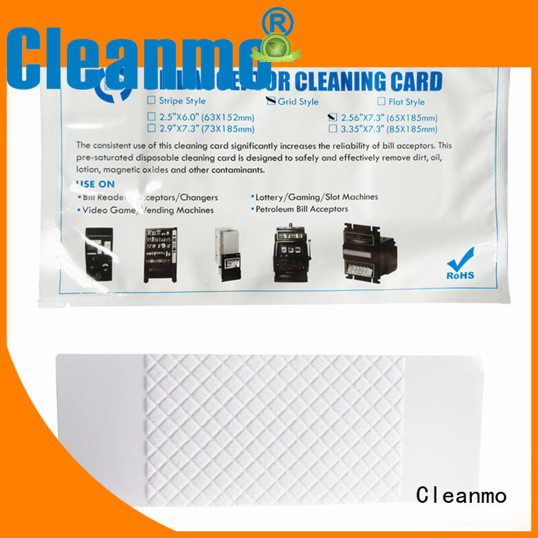 bill acceptor cleaning card style solution Cleanmo Brand company