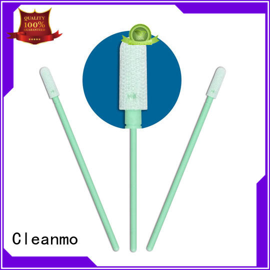 Cleanmo safe material Cleanroom dacron swabs supplier for optical sensors