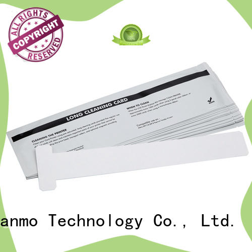 Cleanmo non woven zebra printer cleaning cards manufacturer for cleaning dirt