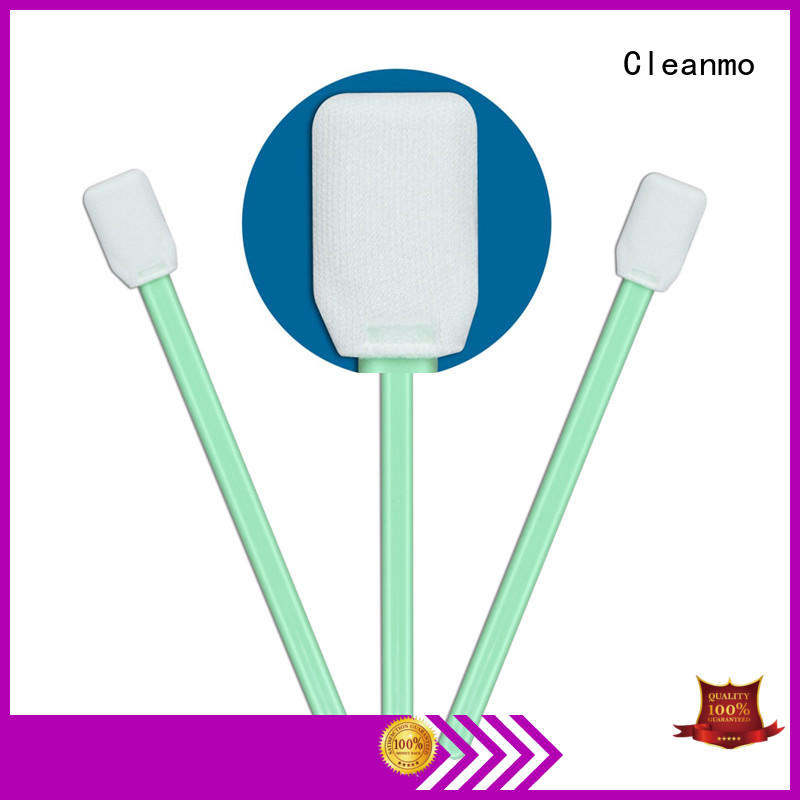Cleanmo excellent chemical resistance optic cleaning swabs supplier for general purpose cleaning