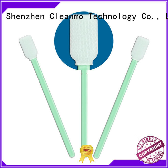 Cleanmo polypropylene handle polyester cleaning swabs manufacturer for printers