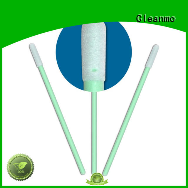 Cleanmo thermal bouded pointed cotton swabs wholesale for excess materials cleaning
