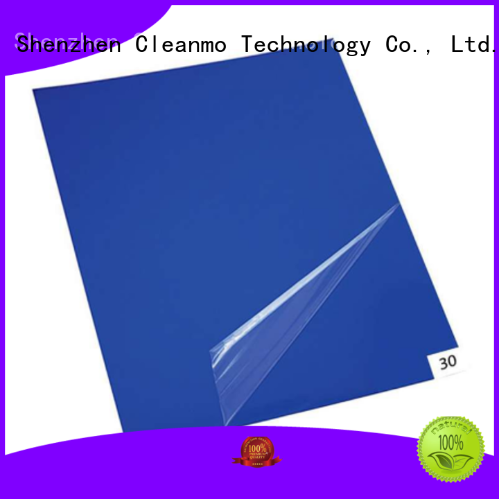 Cleanmo polystyrene film sheets adhesive mat manufacturer for cleanroom entrances