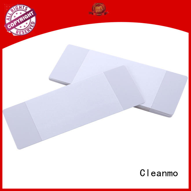 Cleanmo Hot-press compound Evolis Cleaning cards factory price for ID card printers