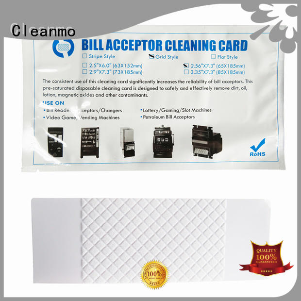 Quality Cleanmo Brand bill acceptor cleaning card grid solution