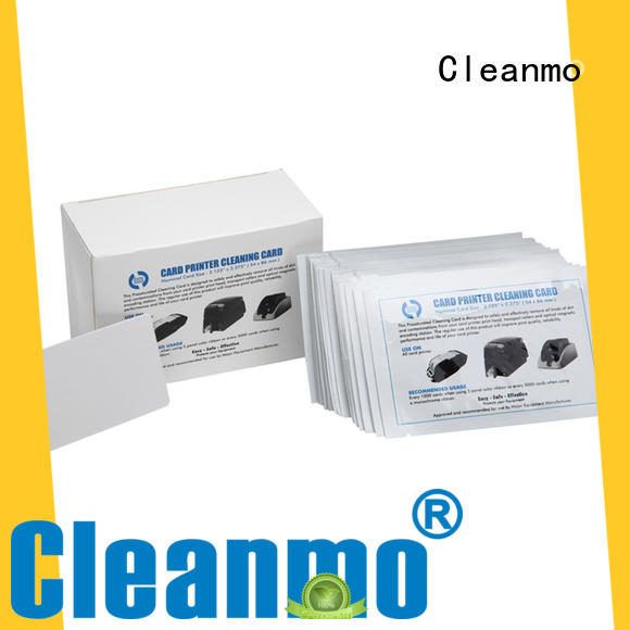 Cleanmo plastic core electronic card cleaner factory price for ATM machines