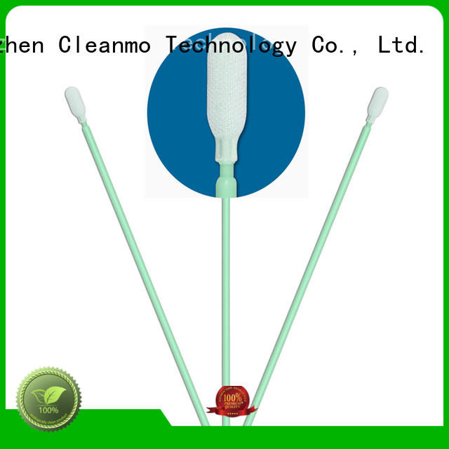 Cleanmo double-layer knitted polyester texwipe polyester swabs wholesale for optical sensors