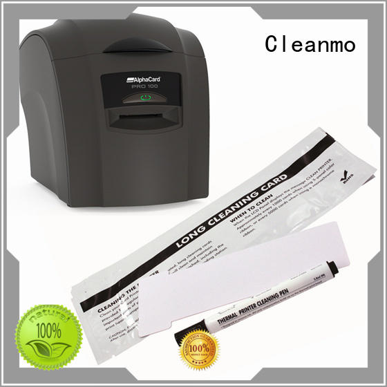 Cleanmo Electronic-grade IPA AlphaCard long T Cleaning Cards manufacturer for AlphaCard PRO 100 Printer