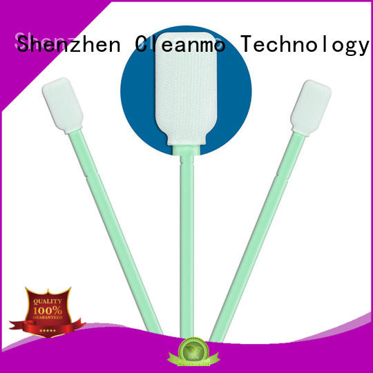 Cleanmo polypropylene handle polyester swab supplier for printers