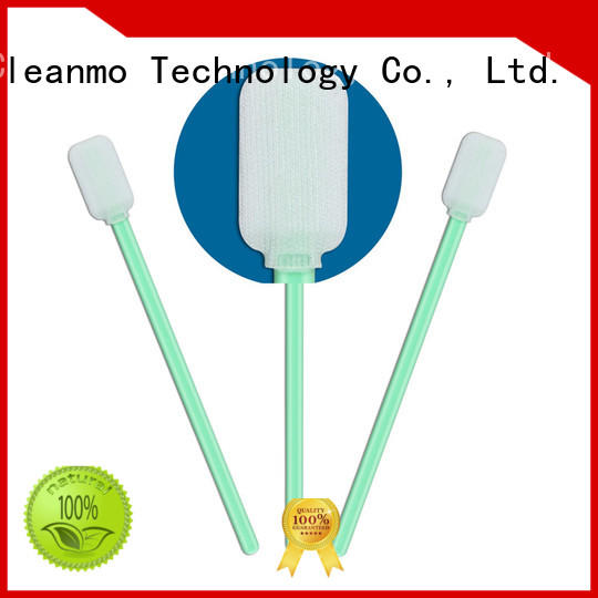 Cleanmo high quality cleanroom swabs foam polypropylene handle for microscopes