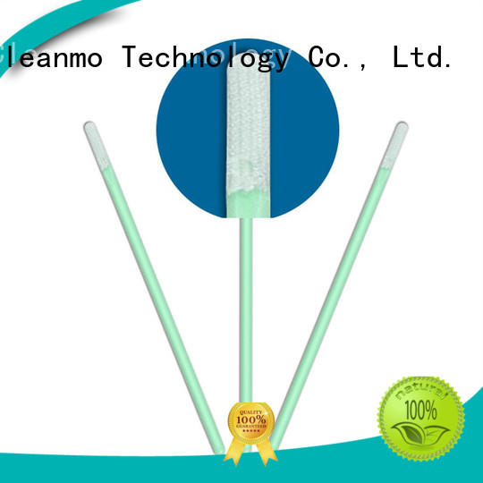 Cleanmo ESD-safe microfiber cleaning swabs wholesale for Micro-mechanical cleaning