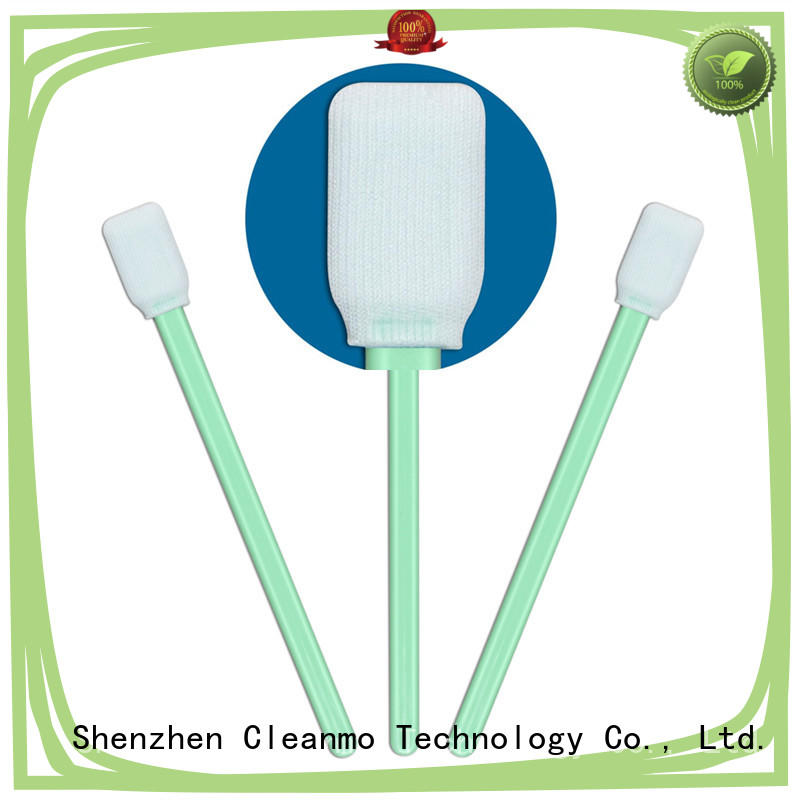double-layer knitted polyester cleanroom swabs foam excellent chemical resistance for optical sensors Cleanmo