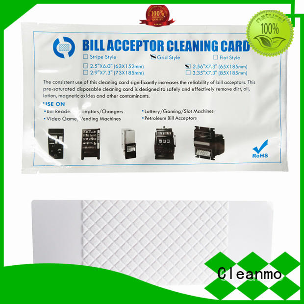 durable alcohol cleaning cards flocked fabric manufacturer for currency counters