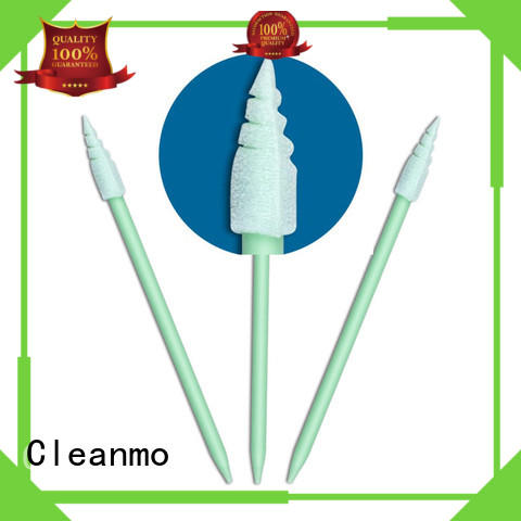 ESD-safe mouth swab green handle factory price for general purpose cleaning