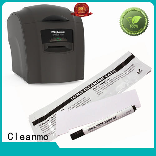 Cleanmo durable AlphaCard Printhead Cleaning Pens Aluminum foil packing for AlphaCard PRO 100 Printer