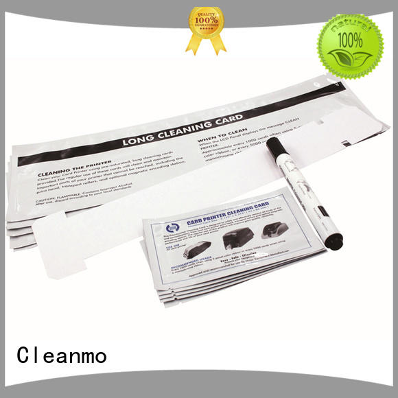 Cleanmo Aluminum foil packing CR80 Cleaning Cards factory for Javelin J360i printers