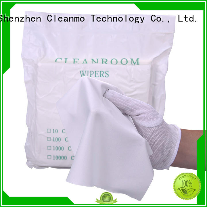 Cleanmo durable microfiber lens wipes 70% Polyester for stainless steel surface cleaning