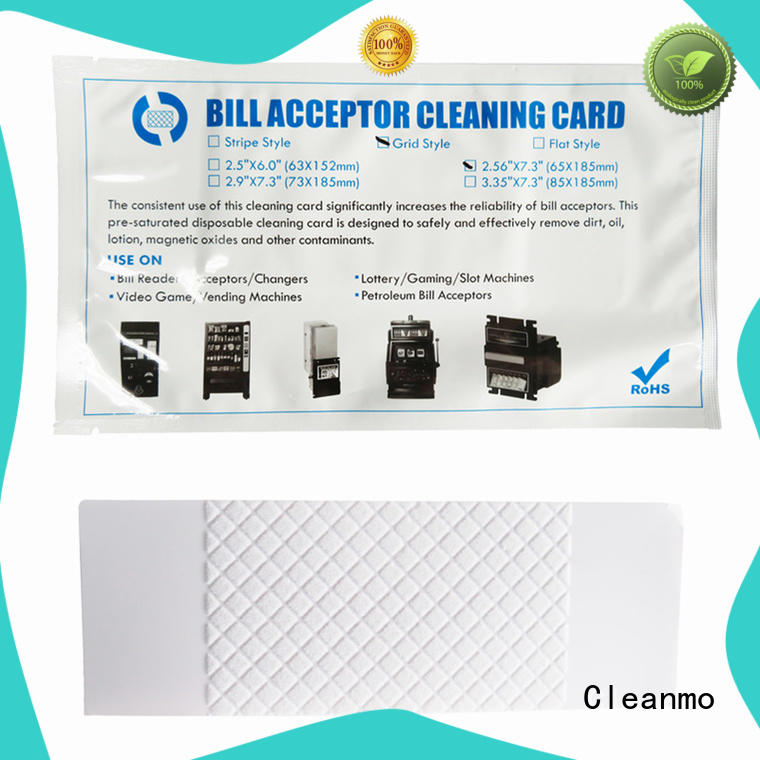 Cleanmo cost effective cleaning credit card supplier for dollar bill readers