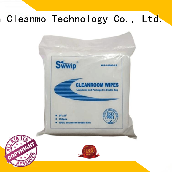 Hot wipes polyester wiper polyester cleanroom Cleanmo Brand