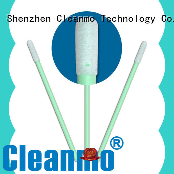 high quality lint free swabs green handle supplier for Micro-mechanical cleaning