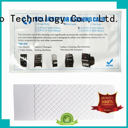 dollar bill acceptor cleaning cards white for video game machines Cleanmo