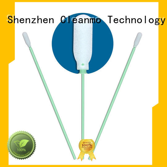 Cleanmo green handle foam tipped swabs manufacturer for Micro-mechanical cleaning