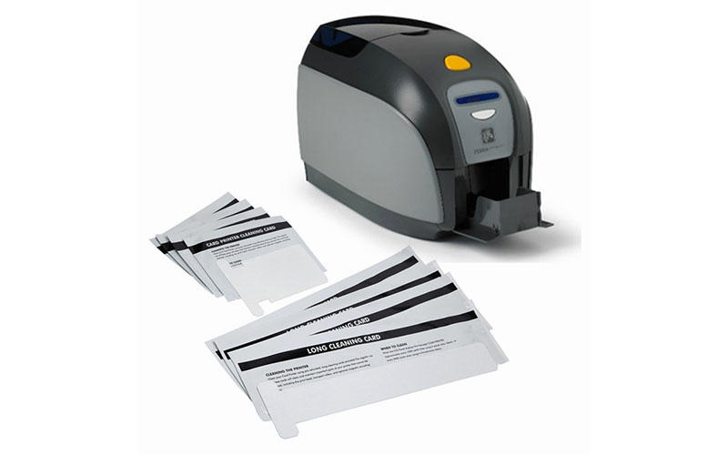 disposable zebra printer cleaning cards Aluminum foil packing supplier for ID card printers-3