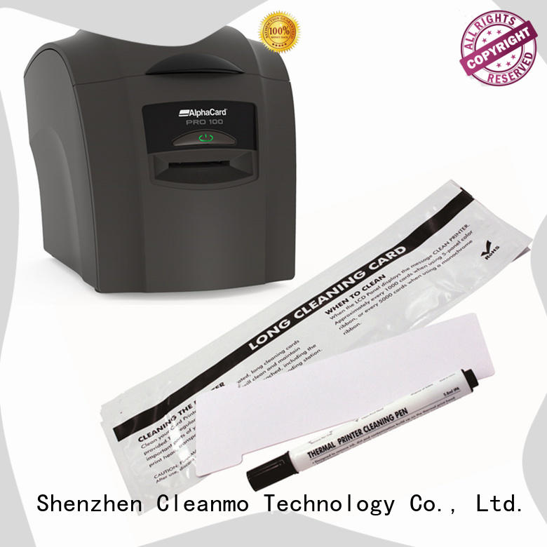 Cleanmo PP AlphaCard long T Cleaning Cards factory for AlphaCard PRO 100 Printer