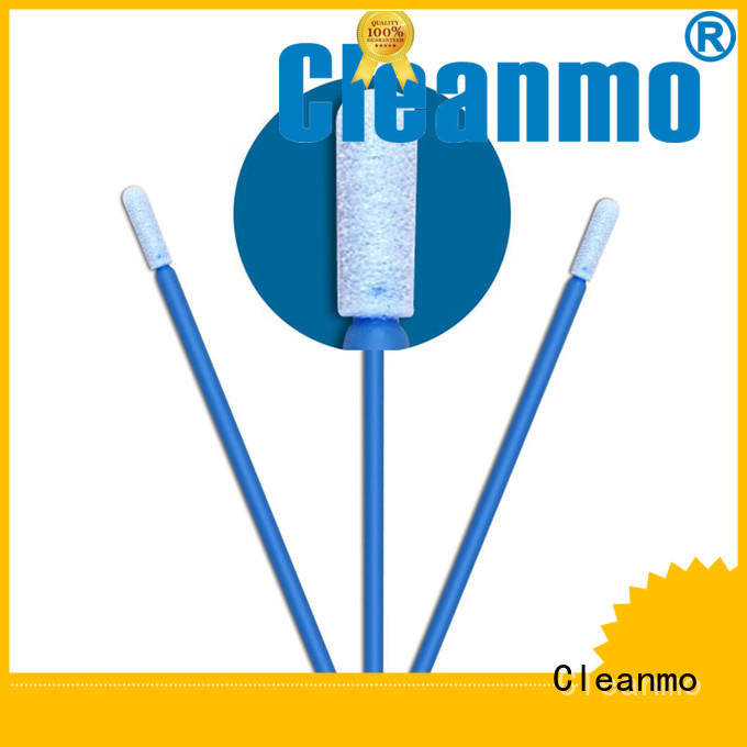 Cleanmo green handle oral sponge swabs factory price for general purpose cleaning