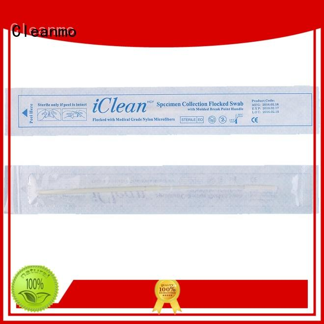 Cleanmo safe flocked swab factory for cytology testing