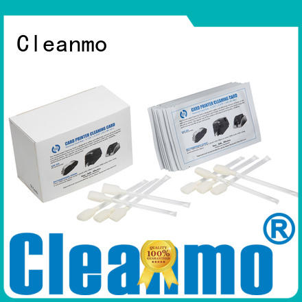 Cleanmo blending spunlace zebra printer cleaning factory for Zebra P120i printer