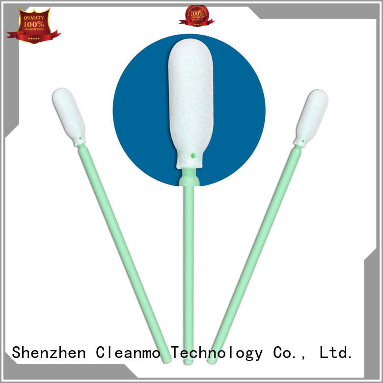 Cleanmo green handle mouth swab supplier for general purpose cleaning