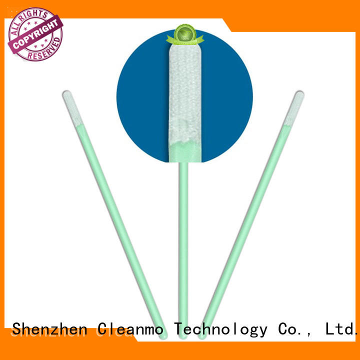 Cleanmo double layers of microfiber fabric Disposable Microfiber Swabs factory price for Micro-mechanical cleaning