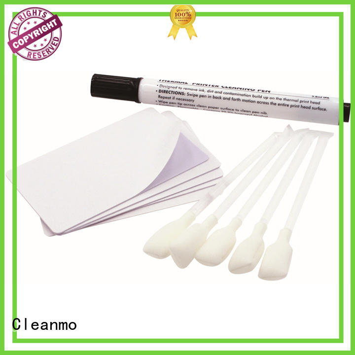 Cleanmo blending spunlace print cleaner factory price for Zebra P120i printer