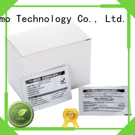 Cleanmo quick Evolis Cleaning cards manufacturer for Cleaning Printhead