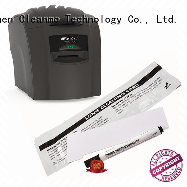 Cleanmo durable AlphaCard Short T Cleaning Cards factory for AlphaCard PRO 100 Printer