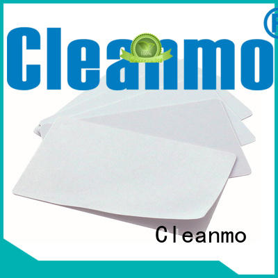 Cleanmo convenient Evolis Cleaning cards supplier for Evolis printer