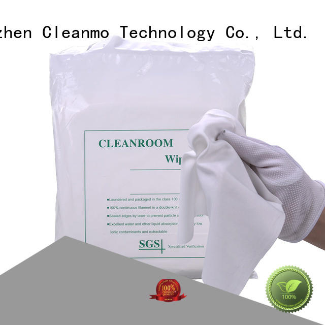 Cleanmo thermally sealed polyester wipes factory direct for medical device products