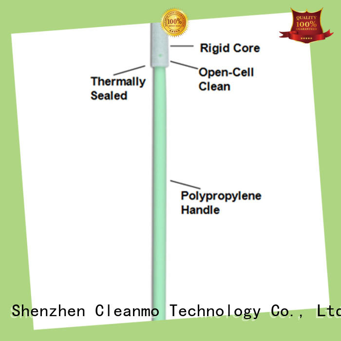 Cleanmo green handle texwipe swabs supplier for excess materials cleaning
