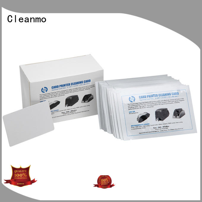 Cleanmo durable card reader cleaning card manufacturer for ID Card Printers