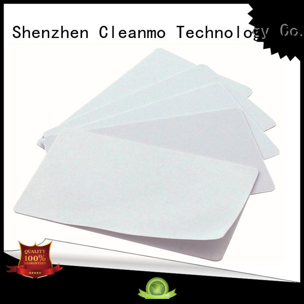 Cleanmo Electronic-grade IPA Snap Swab Evolis Cleaning cards manufacturer for Evolis printer