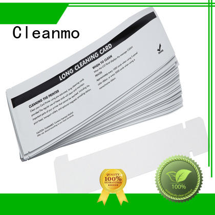 Cleanmo disposable zebra printer cleaning cards factory for cleaning dirt