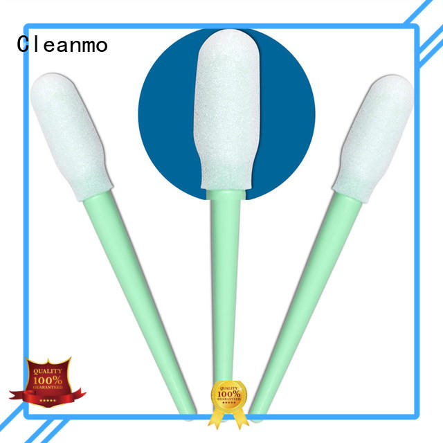Cleanmo ESD-safe Polypropylene handle cotton swab wholesale for Micro-mechanical cleaning