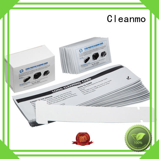 Cleanmo durable zebra printer cleaning manufacturer for ID card printers