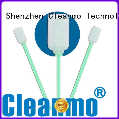Cleanmo double-layer knitted polyester Industrial polyester swabs wholesale for optical sensors