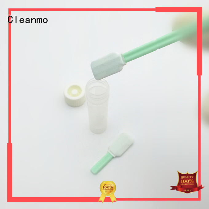 efficient sterile swab stick 100% polyester supplier for test residues of previously manufactured products