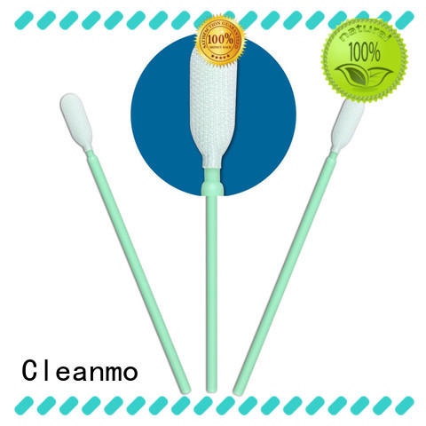 Cleanmo compatible polyester cleanroom swabs flexible paddle for optical sensors