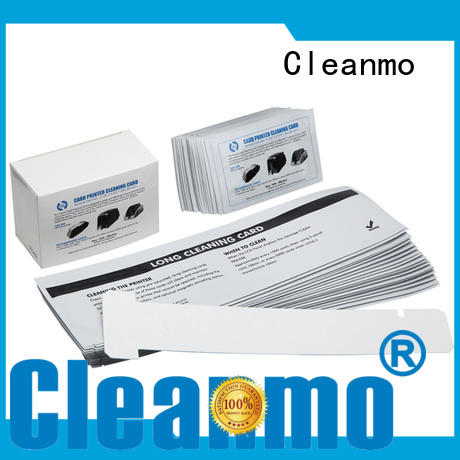 Cleanmo safe zebra printer cleaning supplier for ID card printers
