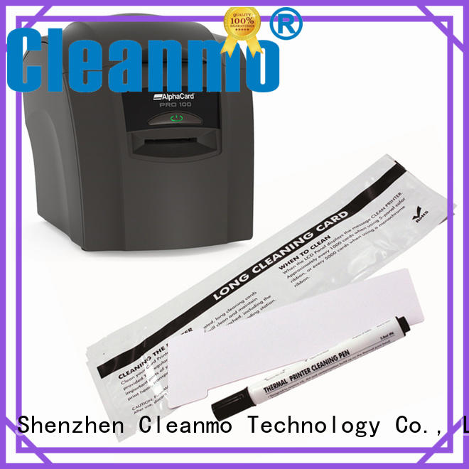 Cleanmo Aluminum foil packing AlphaCard Printer Cleaning Cards factory for AlphaCard PRO 100 Printer